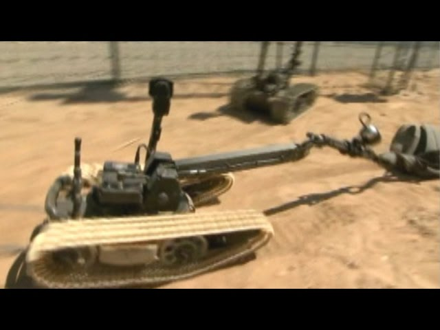 War Games: Bots battle bombs in 'Robot Rodeo'