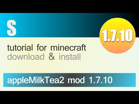 APPLEMILKTEA 2 MOD 1.7.10 minecraft - how to download and install (with forge)