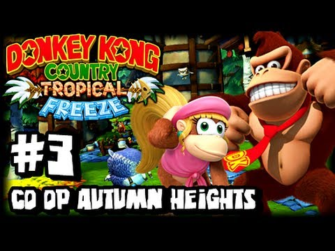 Donkey Kong Country Tropical Freeze (1080p) Part 3 Co Op - World 2 Autumn Heights