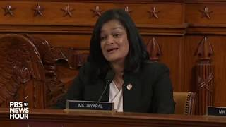 WATCH: Rep. Pramila Jayapal's full questioning of Democratic counsel | Trump impeachment hearings
