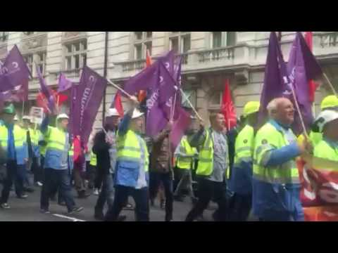 Steel march in central London