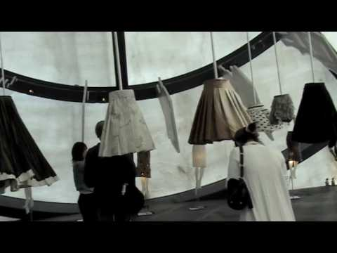 Prada Transformer - Installation Art: Beautiful display of skirts