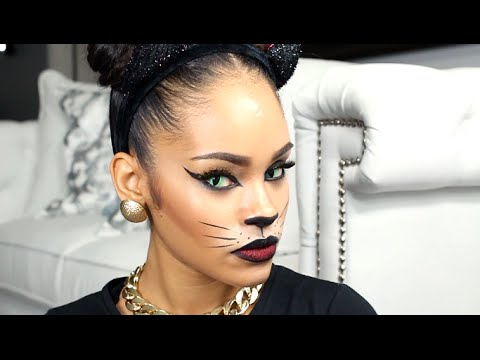 last minute halloween makeup tutorial sexy cat youtube. Black Bedroom Furniture Sets. Home Design Ideas