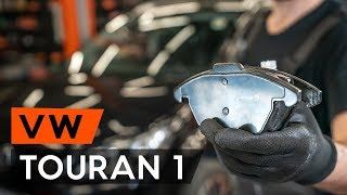 How to replace front brake pads VW TOURAN 1 (1T3) [TUTORIAL AUTODOC]