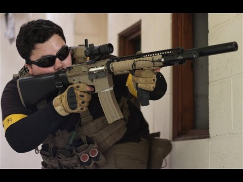 Airsoft War G&P M4. FN 5-7. War games England HD