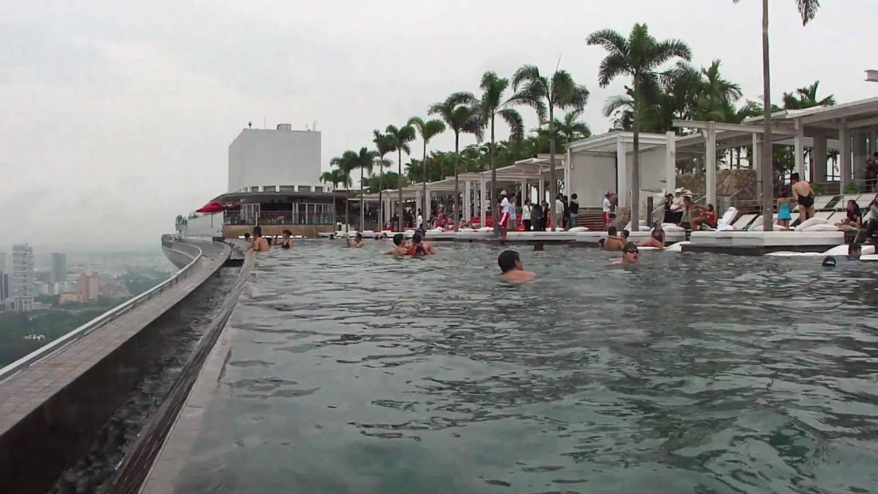 Marina Bay Sands Singapore Rooftop Pool Youtube