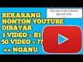 SIKAT !!! NONTON VIDEO YOUTUBE DIBAYAR $50 / 700 RB ! Nonton Video Dibayar Dollar Gratis