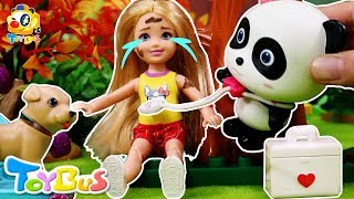 Little Kelly Got Injured While Skateboarding   Pretend Play with Doctor Toys   Rescue Team   ToyBus