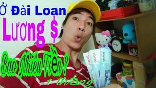 Cuộc Sống Đài Loan - ở đài loan 1 tháng tôi kiếm được bao nhiêu tiền $ - Trương Đình Đại
