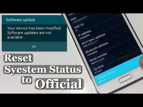 How to Reset System Status to Official for Galaxy S5. S4. S3 & Note [Wanam Xposed]