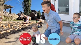 COCA COLA AND MENTOS EXPERIMENT | DIET COKE AND MENTOS AQUARIUM | HOMEMADE COKE AND MENTOS ROCKET