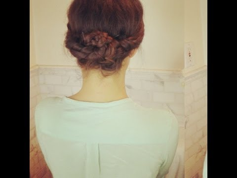 Easy Elegant Braided Updo