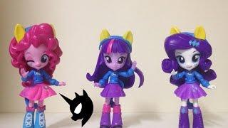 Đồ chơi Pony Equestria Minis - Pinkie, Twilight, Rarity Cafeteria