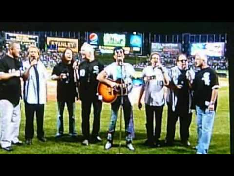 Jim Peterik&The Ides Of March - sing National Anthem at White Sox game
