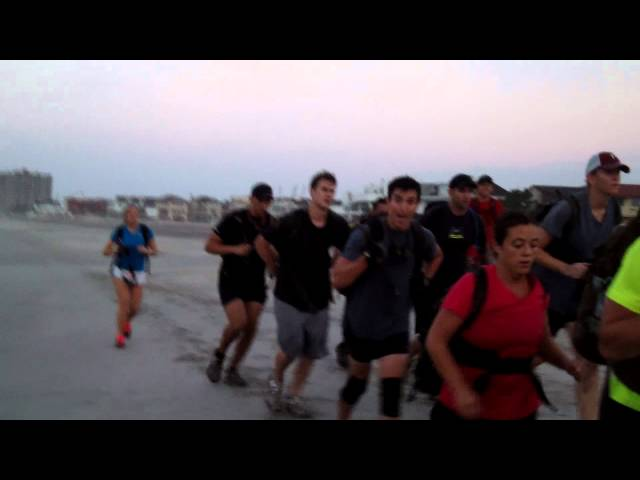 beach run at end