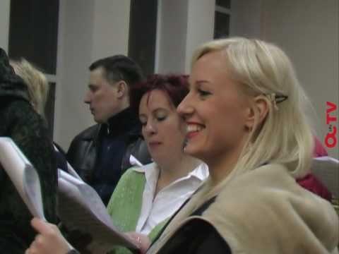 Auksinio choro repeticijų užkulisiai - gospelo pamokos