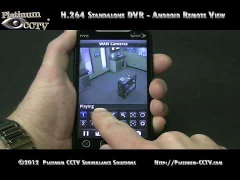 View Security Cameras on Android over Internet - DVR-7000 H.264 Standalone DVRs