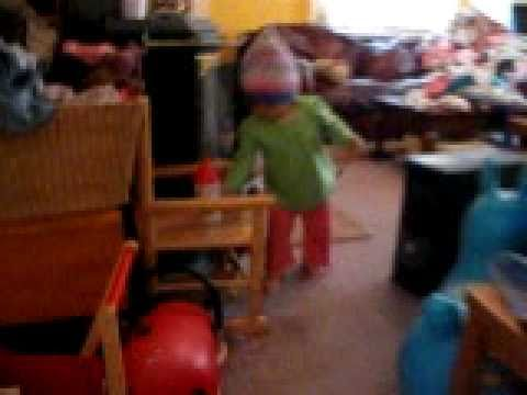 Estelle dancing to Moog Cookbook - Hotel California
