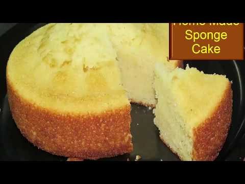 Home made sponge cake in pressure cooker-cake recipe without Oven-how to make sponge cake in telugu-