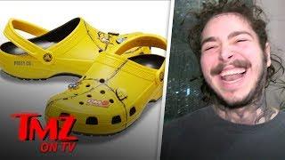 Post Malone's Crocs Are A Hit!   TMZ TV