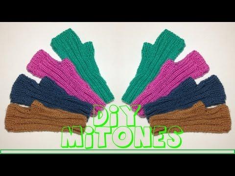 Cómo tejer mitones o guantes sin dedos.