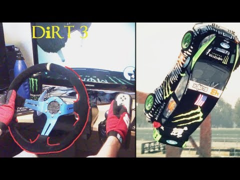 GYMKHANA drifting simulator Ken Block - 2x Barrel Roll. Logitech G27 Racing Steering Wheel gameplay.