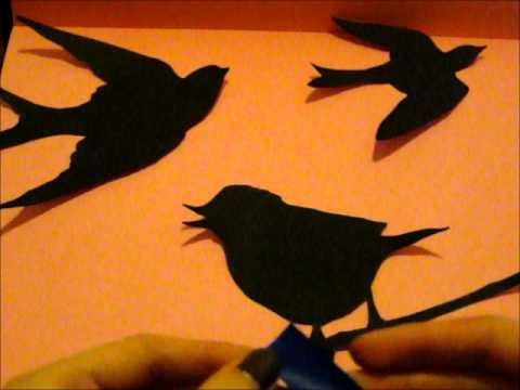 Diy bird wall art