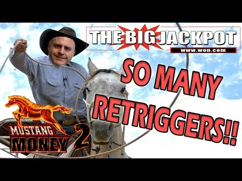 SO MANY RE-TRIGGERS!!! 🐎 MUSTANG MONEY FREE GAMES! 💣 w/ The Big Jackpot