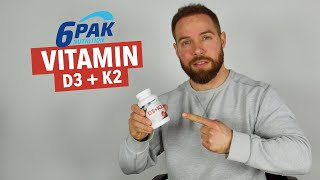 6Pak Nutrition Vitamin D3+K2 (vegan) ???? im Review | Muskelmacher Shop