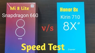 Xiaomi Mi8 Lite vs Honor 8x Speed Test: which one is more fast ?
