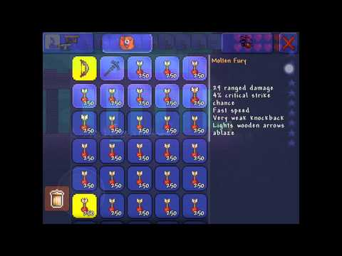 Terraria iOS: A Way To Kill The Dungeon Guardian w/ Love (aka Heart