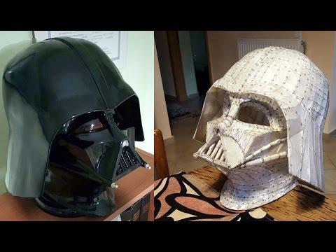 Homemade Darth Vader helmet