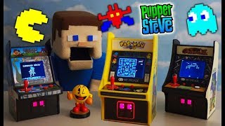 MY ARCADE PAC MAN Retro Video Game Mini Cabinets - Galaxian Caveman Games Minecraft Unboxing