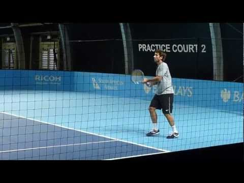 Marc Lopez Hits At ATP World Tour Finals 2012