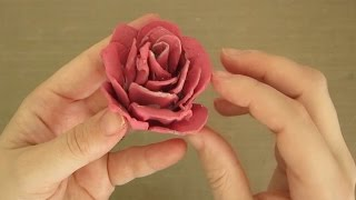 EASY DIY ROSE FROM AN EGG CARTON!