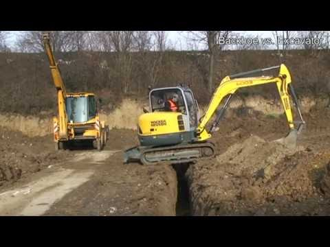 Backhoe vs  Excavator