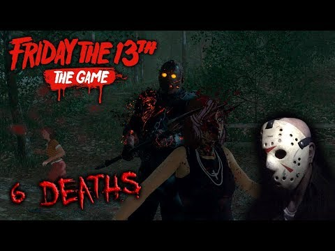 Friday the 13th the game - Gameplay 2.0 - Savini Jason - 6 Deaths