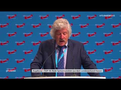 Parteitag der AfD in Augsburg - Rede hessischer Spitzenkandidat Rahn am 01.07.18