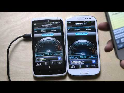 Samsung Galaxy S3 vs. HTC One X - Internet Speed Test