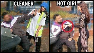 CLEANER vs HOT GIRL Picking Up Guys (SOCIAL EXPERIMENT)