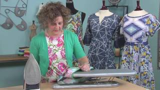Kay Whitt: how to finish necklines & armhole edges with bias trim on It's Sew Easy (1213-1)