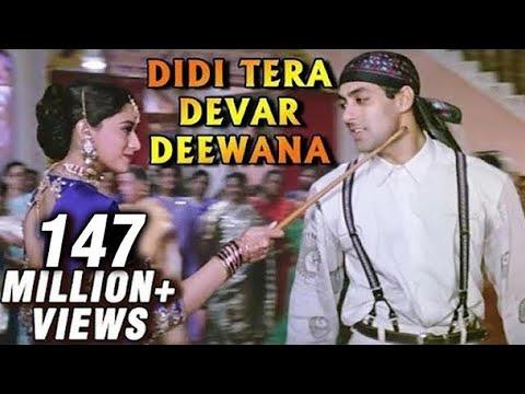 Didi Tera Devar Deewana - Madhuri Dixit, Salman Khan - Bollywood Superhit Song - Hum Aapke Hain Koun