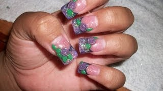 my-acrylic-nails-purple-glitter-fade-with-3d-mini-roses- 04:03