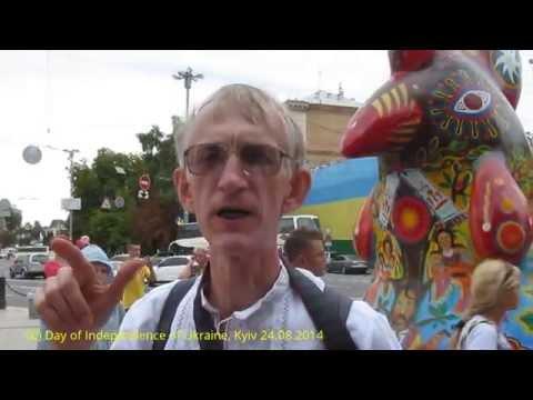 День Независимости Украины: Парад Вышиванок у Софийского Собора  в Киеве 24.08.2014