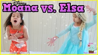 Frozen Elsa and Moana Surprise Egg Hunt in the snow! Kinder Surprise by Kids Toys and Joys