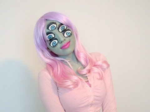Monsters Inc Inspired Make-up (Halloween 2013)