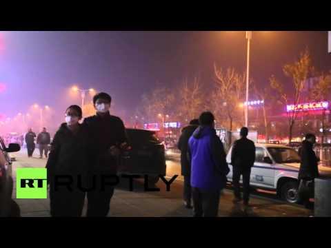 China: Shenyang residents don masks as air pollution reaches record levels