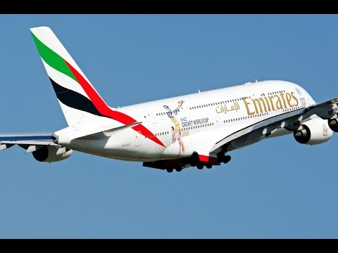The ICC Cricket World Cup 2015 A380 takes-off | Emirates Airline