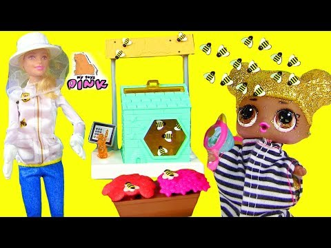 КУКЛА БАРБИ - ПЧЕЛОВОД! ПЧЕЛЫ ПРОТИВ ЛОЛ! Barbie and the Bees! Игры для Детей! Video for Kids