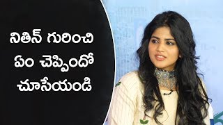 Megha Akash About Nithin @ Nithin and Megha Akash interview about Chal Mohan Ranga